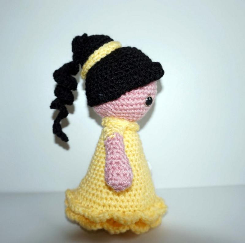 Kleinesbild - ♡ Amigurumi Prinzessin Belle ♡ amigoll9 ♡ Deko ♡ Handarbeit ♡