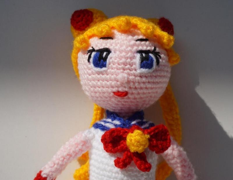 Kleinesbild - ♡ Amigurumi Puppe Sailormond ♡ amigoll9 ♡ Deko ♡ Handarbeit ♡