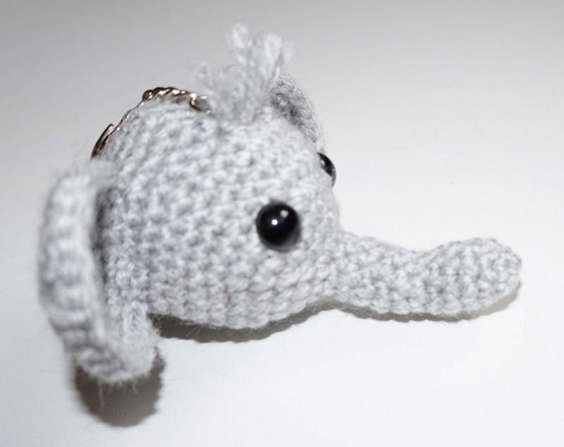 Kleinesbild - ♡ Amigurumi Schlüsselanhänger Elefant ♡ amigoll9 ♡ Deko ♡ Handarbeit ♡