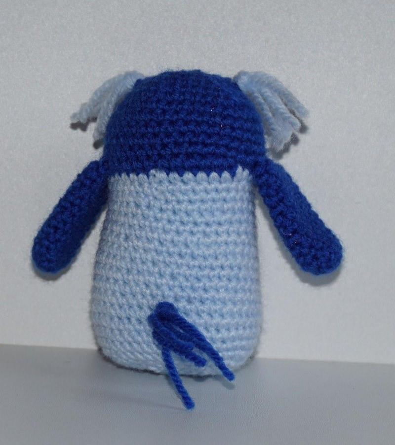 Kleinesbild - ♡ Amigurumi Eule blau  ♡ amigoll9 ♡ Deko ♡ Handarbeit ♡