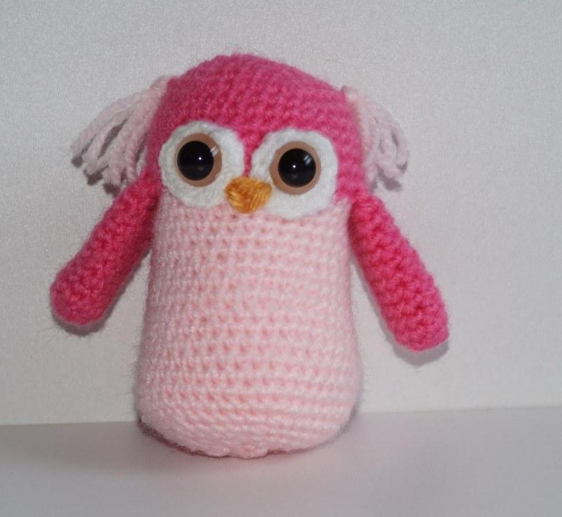 - ♡ Amigurumi Eule Pink ♡ amigoll9 ♡ Deko ♡ Handarbeit ♡ - ♡ Amigurumi Eule Pink ♡ amigoll9 ♡ Deko ♡ Handarbeit ♡