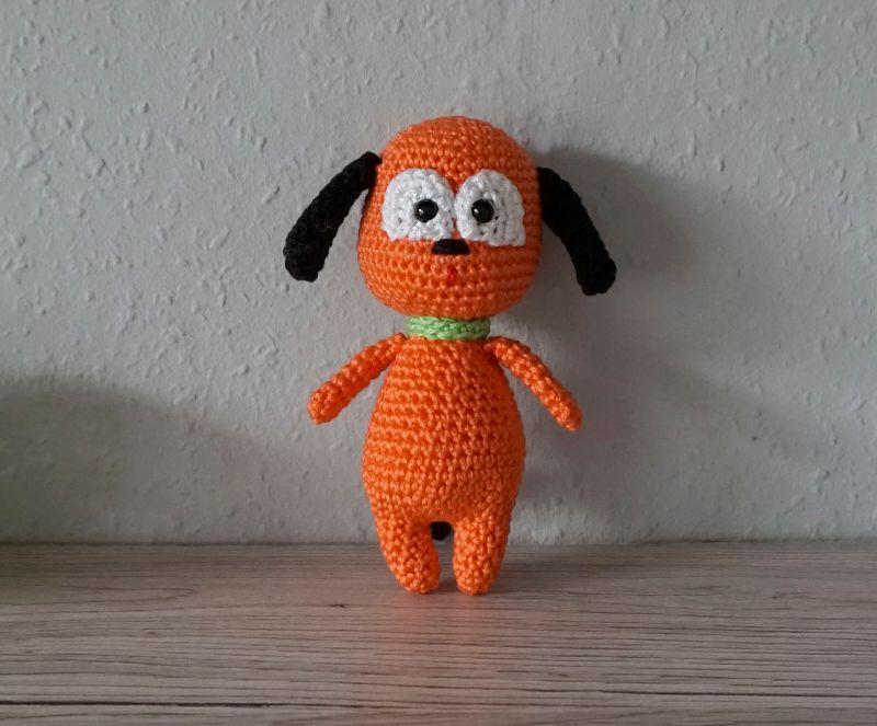 Kleinesbild - Amigurumi Kuschelhund Peppi ♡ Kuscheltier ♡ Hund ♡ amigoll9 ♡ Handarbeit ♡ 100% Baumwolle