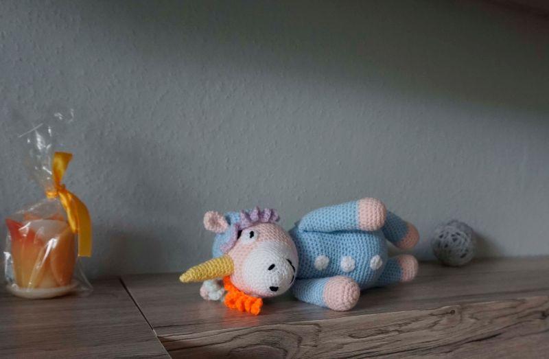 Kleinesbild - Amigurumi schlafendes Einhorn ♡ amigoll9 ♡ Handarbeit