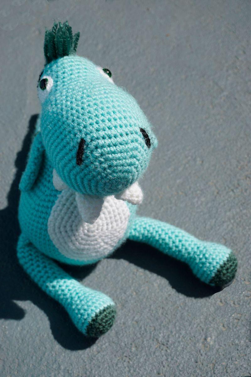 Kleinesbild - Amigurumi Kuscheltier Dino ♡ amigoll9 Handarbeit ♡