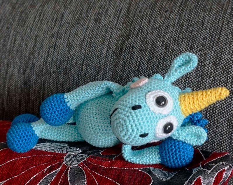 Kleinesbild - Amigurumi Einhorn Fluffy ♡ amigoll9 ♡ Handarbeit ♡ 100% Baumwolle