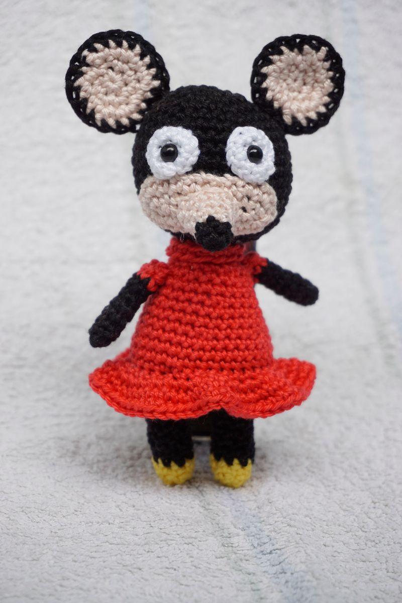 Kleinesbild - Amigurumi Kuschelmaus Juno ♡ Kuscheltier ♡ Maus ♡ amigoll9 ♡ Handarbeit ♡ 100% Baumwolle
