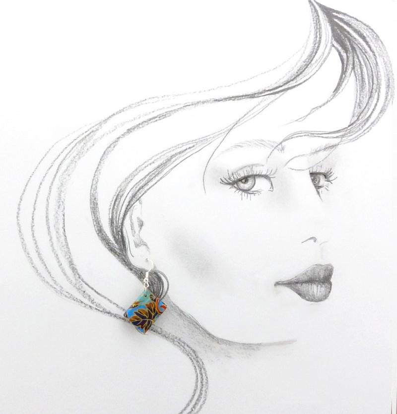 Kleinesbild - Ohrhänger Mini-Büchlein schwarz-weiss gepunktet