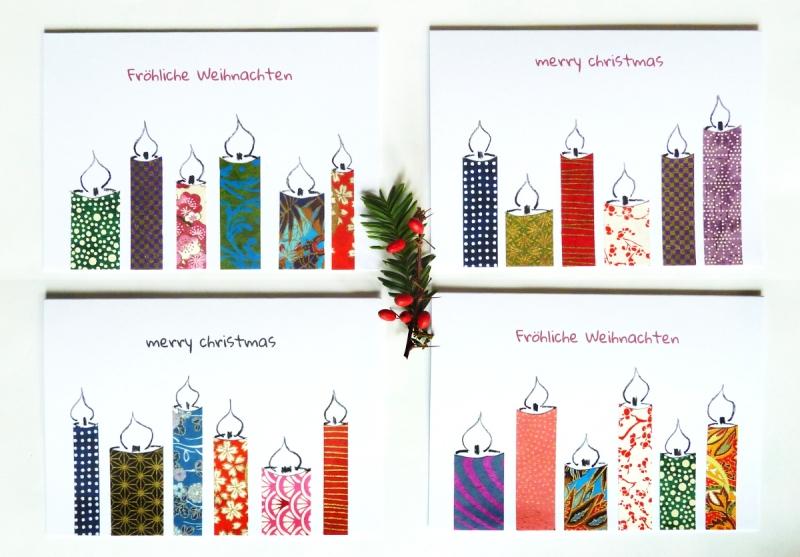 Kleinesbild - Grußkarte Weihnachten mit rotem Umschlag