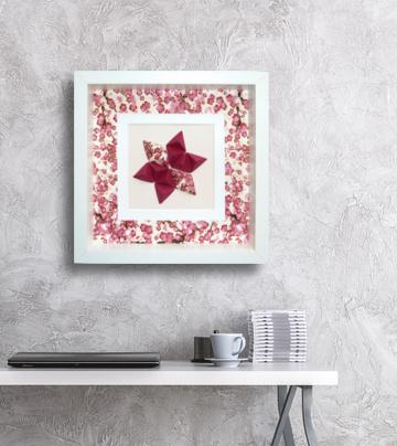 Kleinesbild - Reliefbild Kirschblüten Origami