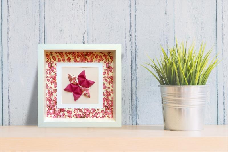 - Reliefbild Kirschblüten Origami - Reliefbild Kirschblüten Origami