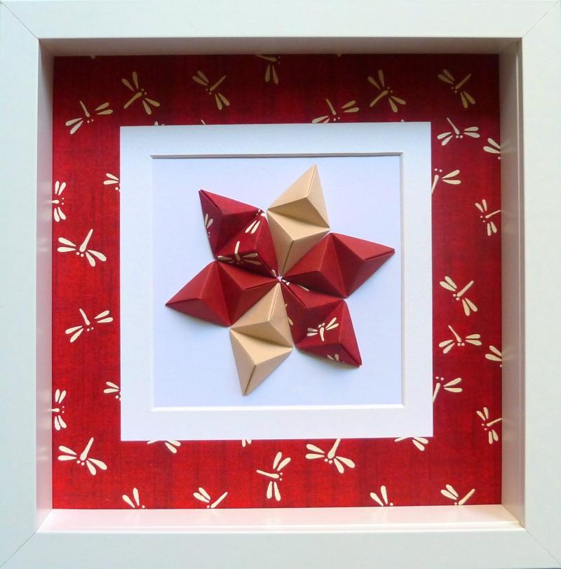 Kleinesbild - Reliefbild Libellen Origami