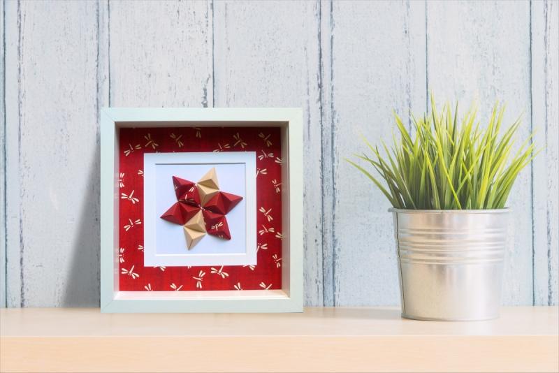 - Reliefbild Libellen Origami  - Reliefbild Libellen Origami