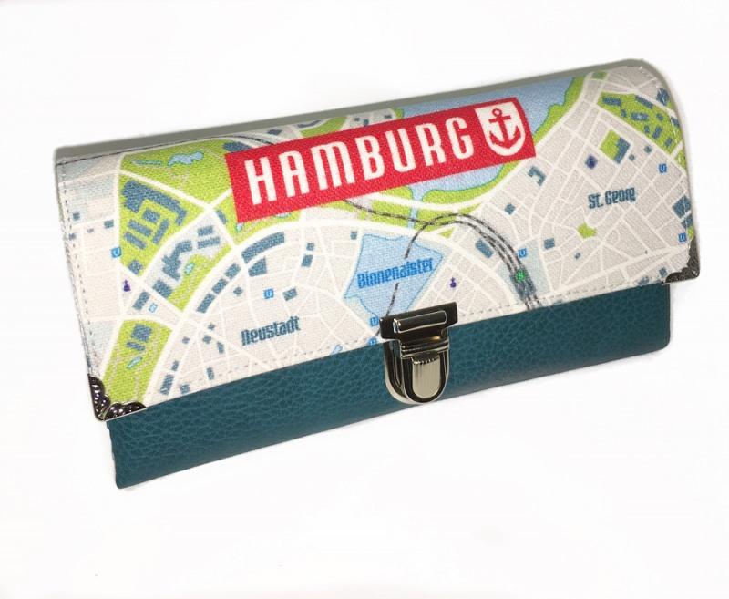 7dbd145945cb2 Taschen   Portemonnaie Geldbörse Opal Stadtplan Hamburg Anker