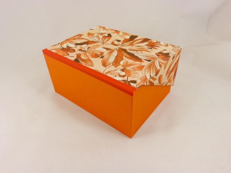 Kleinesbild - A5 Kästchen mit Zierecke, Geschenkverpackung