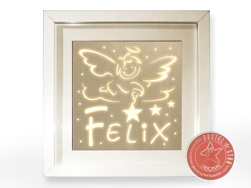- Tauflicht Junge Schlummerlampe Namenswächter LED Schutzengel  - Tauflicht Junge Schlummerlampe Namenswächter LED Schutzengel