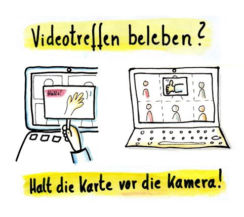 Kleinesbild - Videokonferenzkarte: Meldung! belebe Videokonferenzen