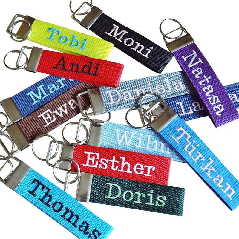 - Schlüsselanhänger mit Name, Schlüsselband mit deinem Wunschnamen, top Trend - Schlüsselanhänger mit Name, Schlüsselband mit deinem Wunschnamen, top Trend