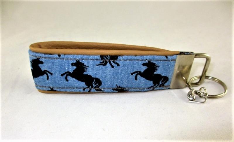 Kleinesbild - Schlüsselanhänger Einhörner Anhänger für Schlüssel Nylonband Schlüsselband mit Schlüsselring unterlegt mit Kunstleder für Männer oder Frauen