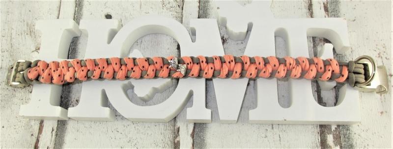 Kleinesbild - Hundehalsband Flirty geflochten Flechthalsband mit Klickverschluss Metallverschluss wahlweise Zugstopp Halsband aus Paracord