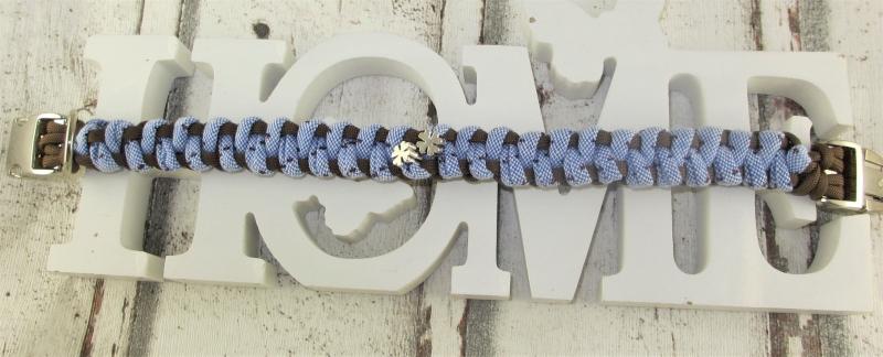 Kleinesbild - Hundehalsband Lucky bei Palundu handgemacht geflochten Flechthalsband mit Klickverschluss Metallverschluss wahlweise Zugstopp Halsband aus Paracord