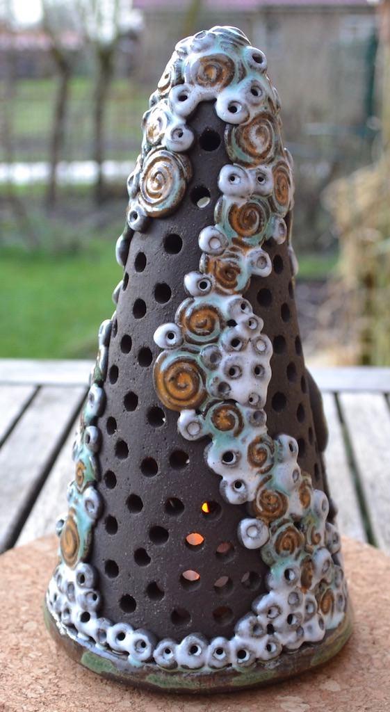 Kleinesbild - 18-004 Diana Windlicht  von Keramik-Kreativ
