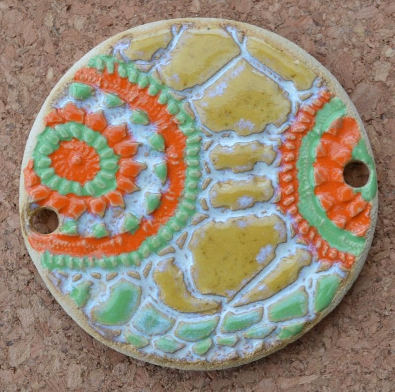 - 17-128  Zaunknopf ausgefallener bunter Zaunschmuck  von Keramik-Kreativ - 17-128  Zaunknopf ausgefallener bunter Zaunschmuck  von Keramik-Kreativ