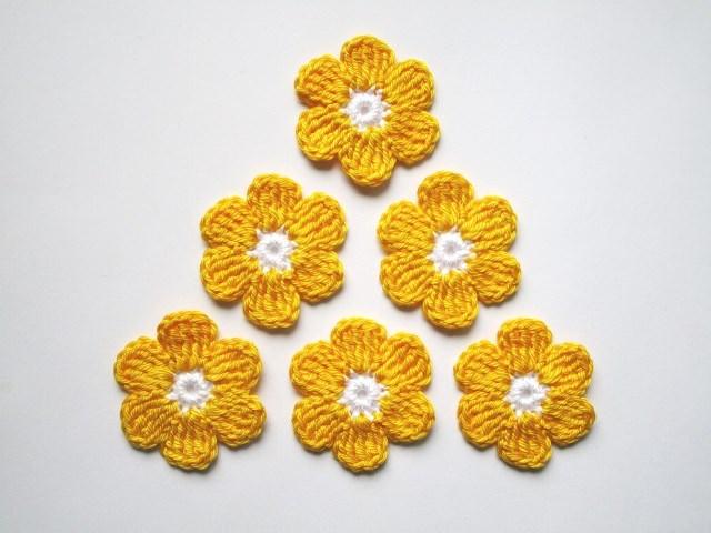 - Häkelapplikation, große Blumen - Häkelapplikation, große Blumen