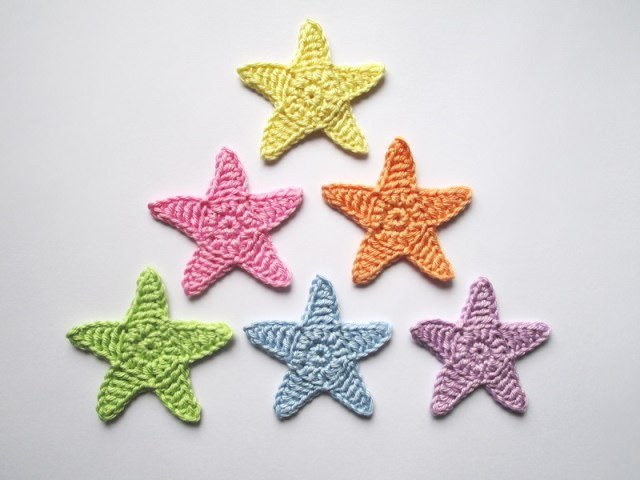 - Häkelapplikation, große Sterne  - Häkelapplikation, große Sterne