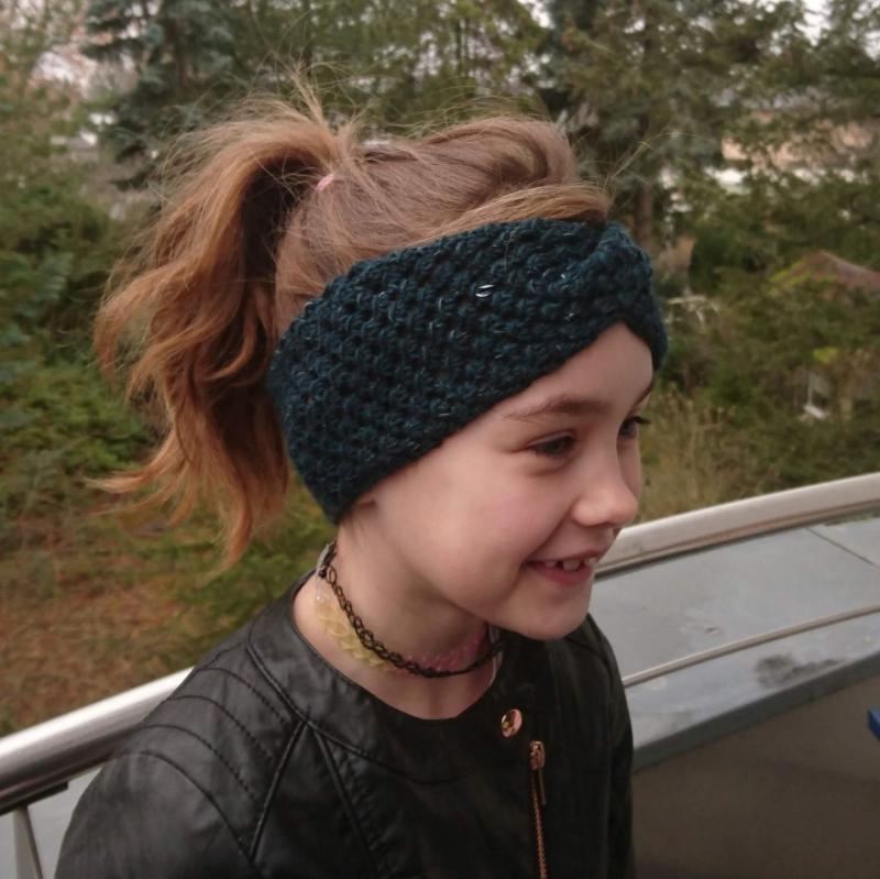 - Stirnband * Wolle * Leinen * GOTS * Kinder * Erwachsene * petrol - Stirnband * Wolle * Leinen * GOTS * Kinder * Erwachsene * petrol