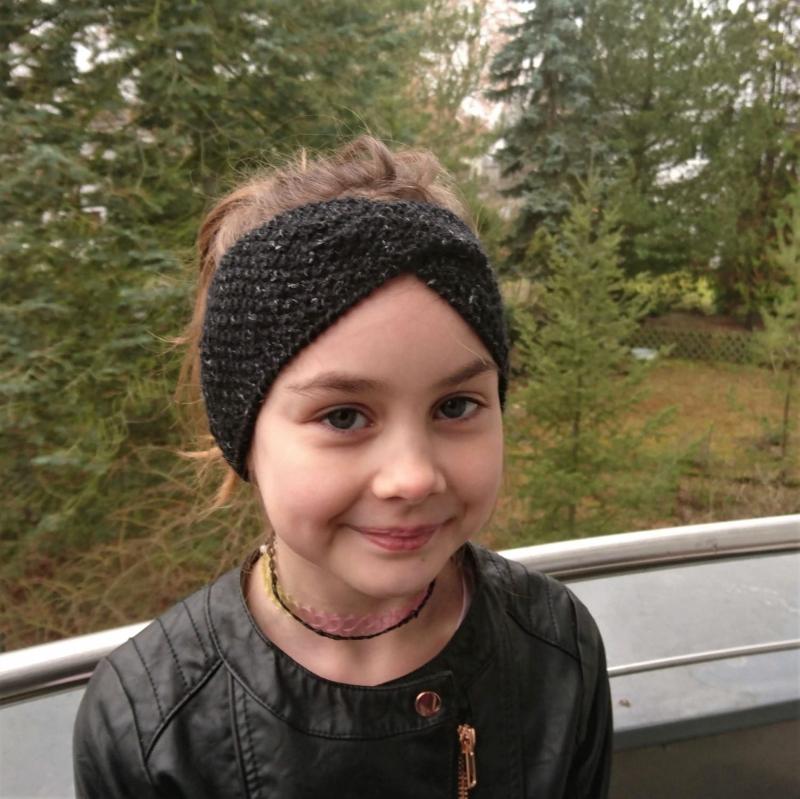 - Stirnband * Wolle * Leinen * GOTS *  Kinder * Erwachsene * schwarz melange - Stirnband * Wolle * Leinen * GOTS *  Kinder * Erwachsene * schwarz melange