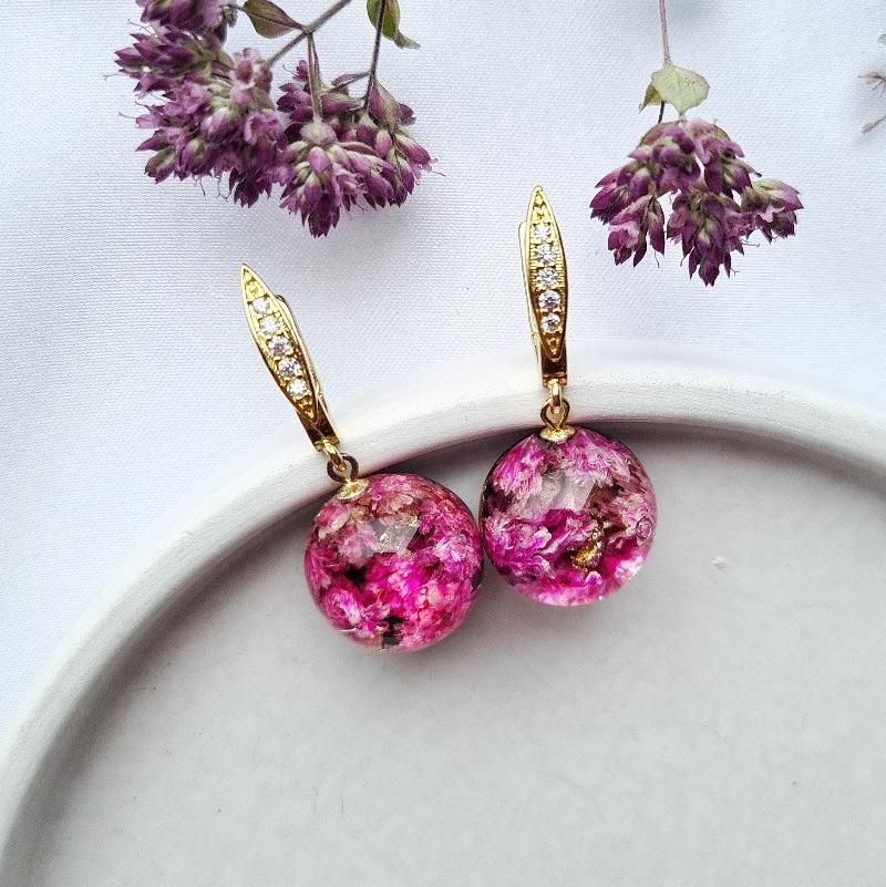 Kleinesbild - Ohrringe mit rosa Schleierkraut