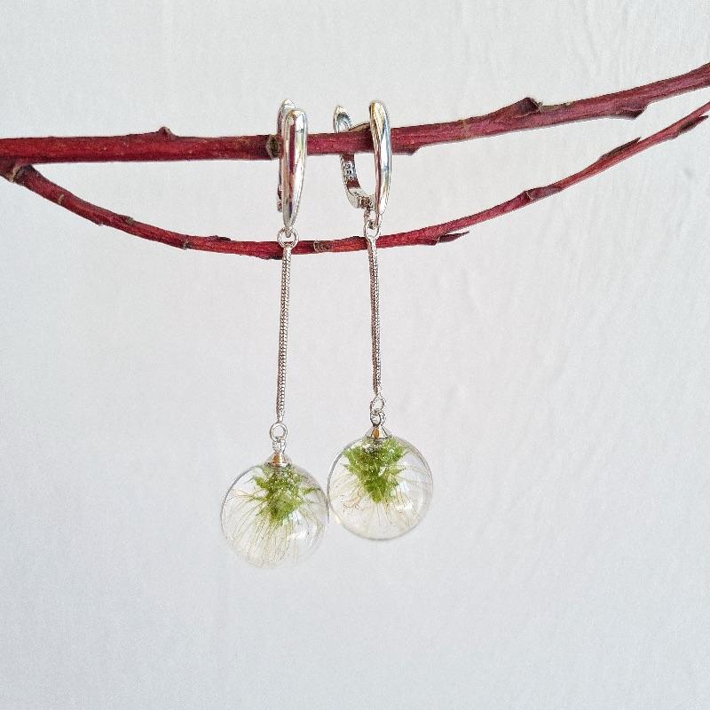 Kleinesbild - Ohrringe mit Hopfenblüten