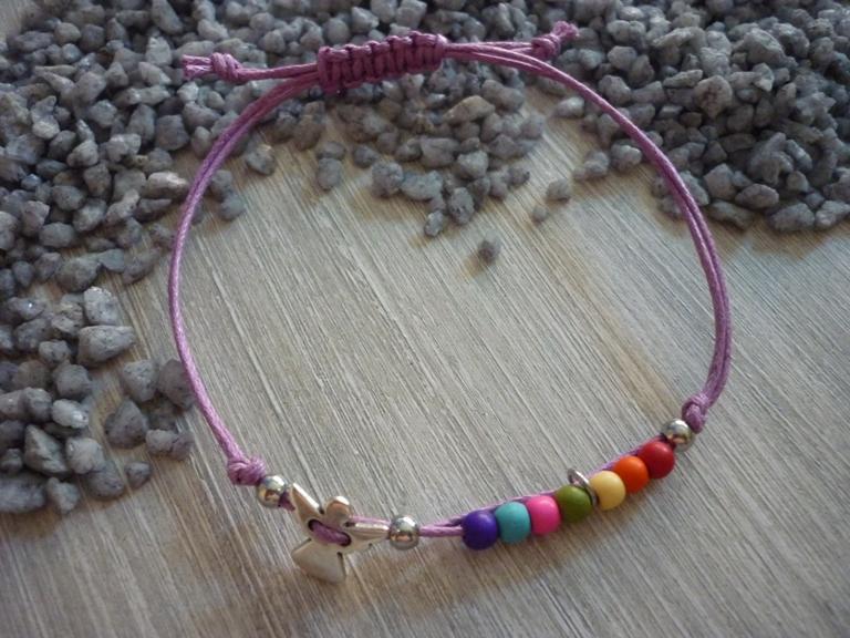 - Armband zur Kommunion,Konfirmation...mit Schutzengel und bunten Perlen - Armband zur Kommunion,Konfirmation...mit Schutzengel und bunten Perlen