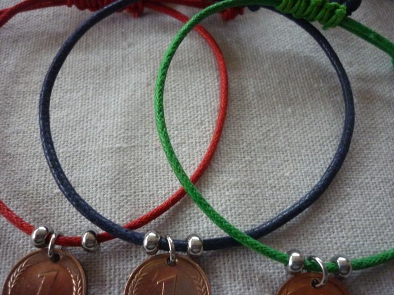 Kleinesbild - Armband 50. Geburtstag Pfennig Vintage 1969 Glückspfennig Jubiläum handgemacht