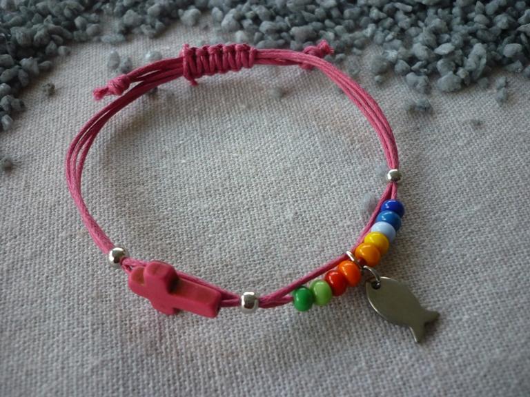 - Handgemachtes farbenfrohes Armband zur Kommunion / Konfirmation / Firmung - Handgemachtes farbenfrohes Armband zur Kommunion / Konfirmation / Firmung