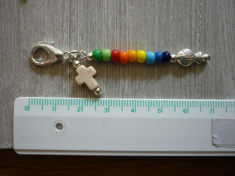 Kleinesbild -  8 farbenfrohe Mitgebsel  / Gastgeschenke /Kommunion /Taufe / Konfirmation Charms Mitbringsel Tischdeko Taschenanhänger