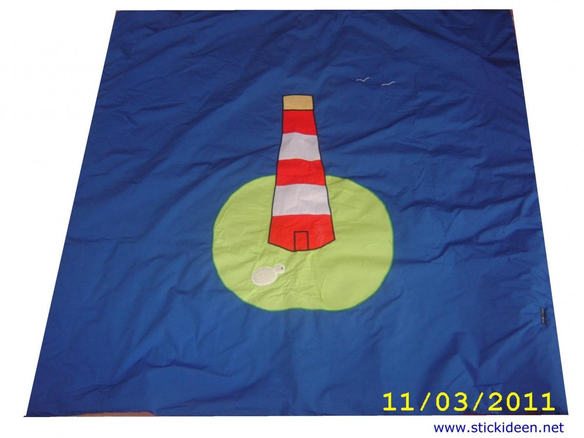 Kleinesbild - Krabbeldecke Leuchtturm 150x150 cm