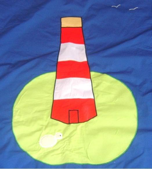 - Krabbeldecke Leuchtturm 150x150 cm - Krabbeldecke Leuchtturm 150x150 cm