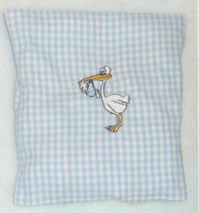 - Kirschkernkissen Storch ideales Geschenk zur Geburt - Kirschkernkissen Storch ideales Geschenk zur Geburt