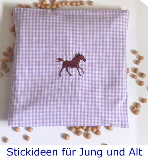 - handgearbeitetes Traubenkernkissen: Fohlen - handgearbeitetes Traubenkernkissen: Fohlen