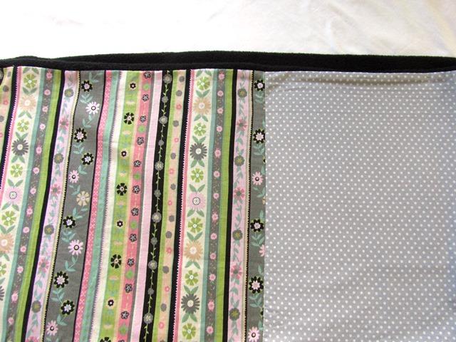 Kleinesbild - Loop / Rundschal / Schlauchschal mit Fleece und Blüten / Handmade