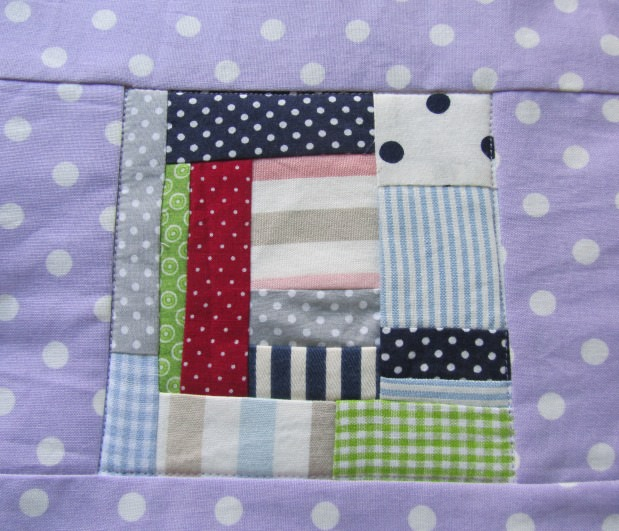 Kleinesbild - Topflappen - Set lila Quadrate, freie Patchworkarbeit, handmade