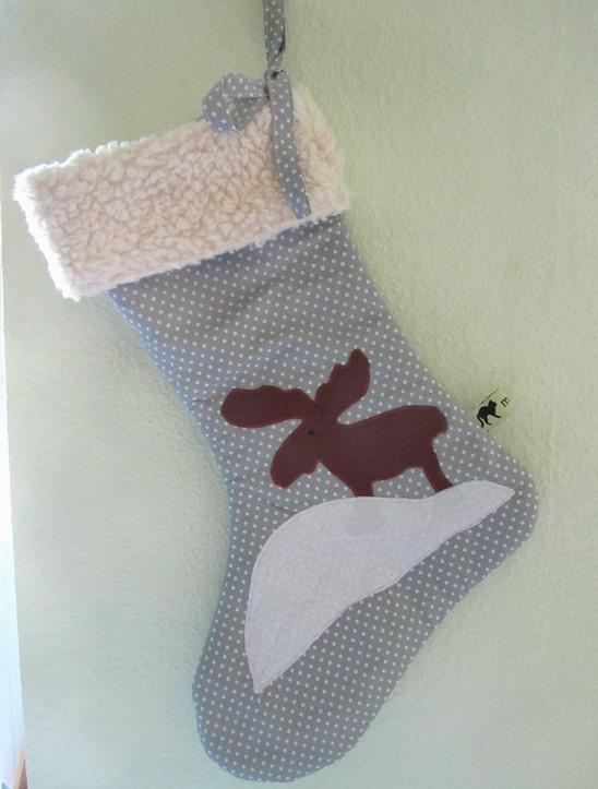 Kleinesbild - Nikolausstiefel mit Elch / handmade