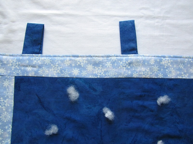Kleinesbild - Wandbehang, Tannen mit Schnee, Patchwork,Unikat,selbstgenäht