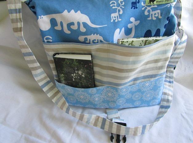 Kleinesbild - Umhängetasche, Schultertasche,  Motiv: blau mit Elch,