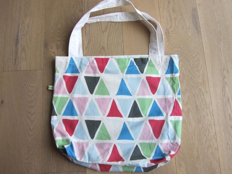 - Shopper / Einkaufstasche bunte Dreiecke, selbstgenäht,  - Shopper / Einkaufstasche bunte Dreiecke, selbstgenäht,