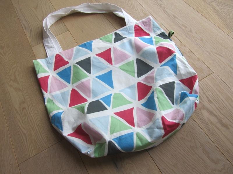 Kleinesbild - Shopper / Einkaufstasche bunte Dreiecke, selbstgenäht,