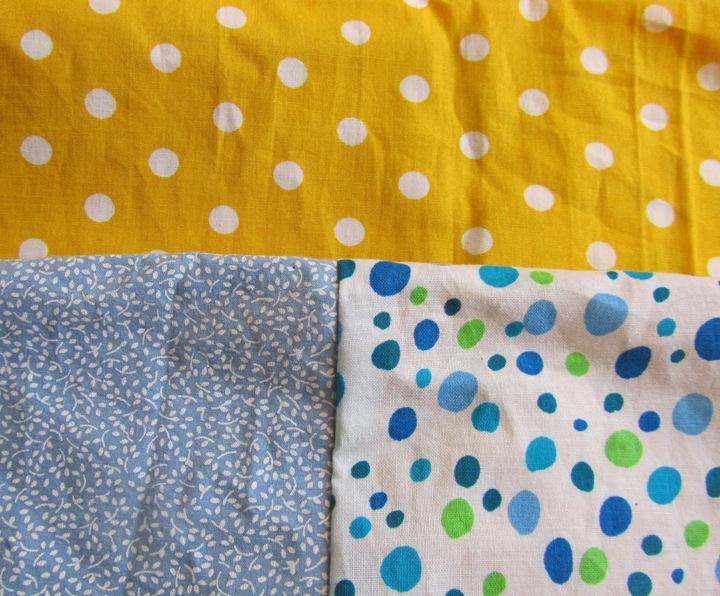 Kleinesbild - Schlauchschal, Loop / Rundschal gelb-blau, selbstgenäht