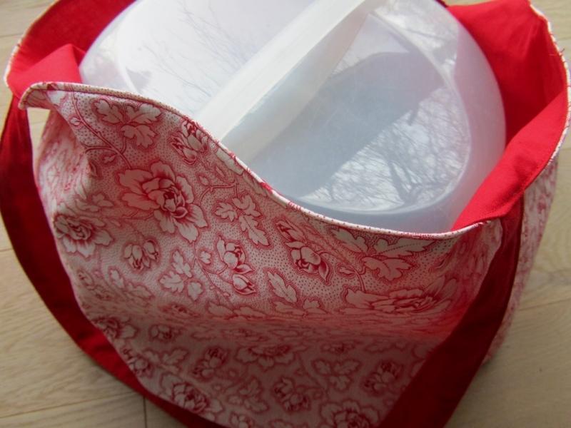 Kleinesbild -  Einkaufstasche, Kuchentasche, Tortentasche Rosen,  handmade,