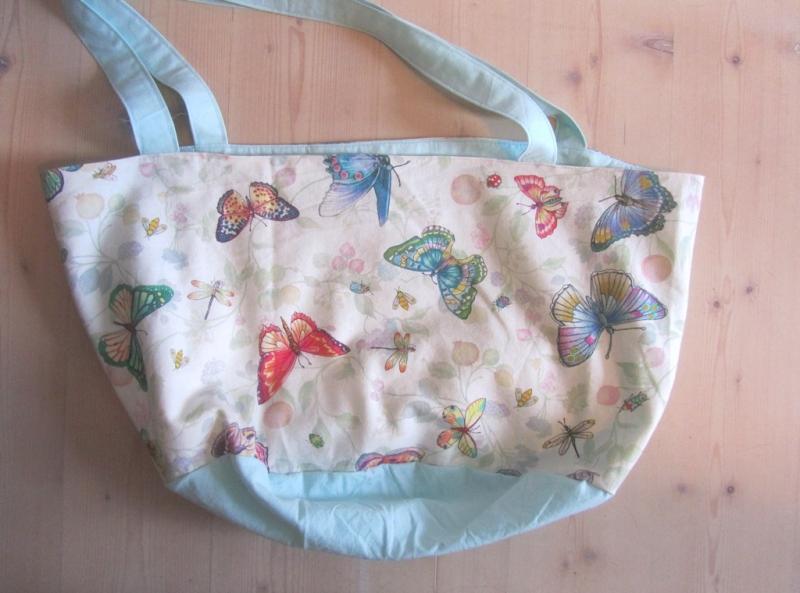 Kleinesbild - Einkaufstasche, Tortentasche, Universaltasche , Schmetterlinge, handmade,